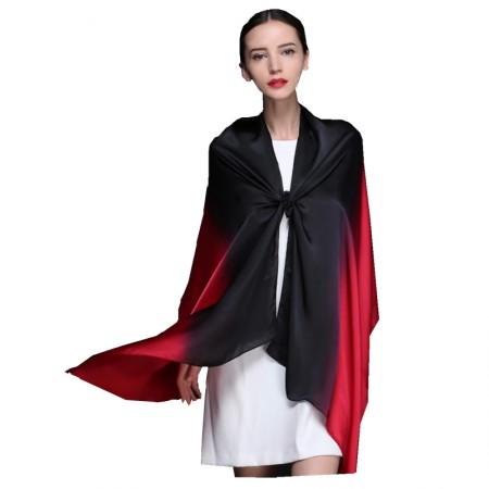 时间煮雨 渐变绉缎围巾·披肩·神秘佳人
