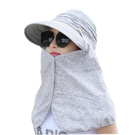 时间煮雨 户外防晒多功能折叠·遮阳帽·浅灰色