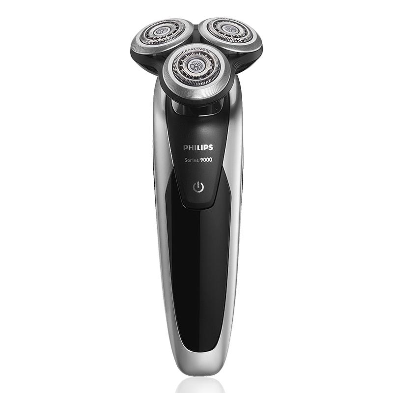 飞利浦(Philips)电动剃须刀 干湿两用 智能清洁 全身水洗原装进口刀头 S9111·黑色