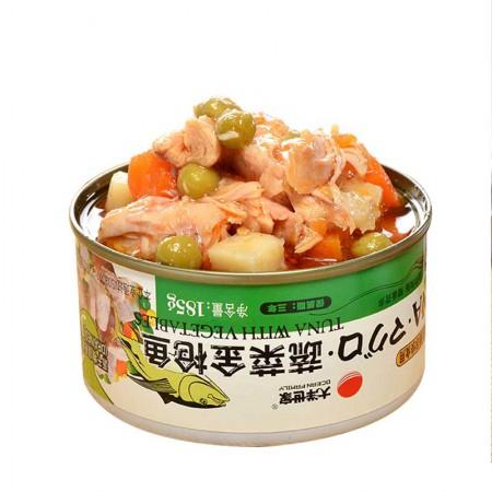 大洋世家 蔬菜金枪鱼罐头·185g*8罐