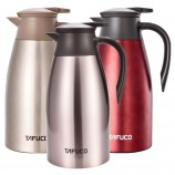泰福高新款欧式不锈钢真空保温水壶咖啡壶2L