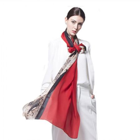 Wise Heburn 欧美时尚·围巾·大红色