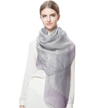 Wise Heburn 璀璨渐变·四季围巾·紫色