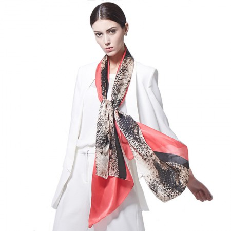 Wise Heburn 欧美时尚·围巾·胭脂红色