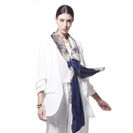 Wise Heburn 欧美时尚·围巾·藏蓝色