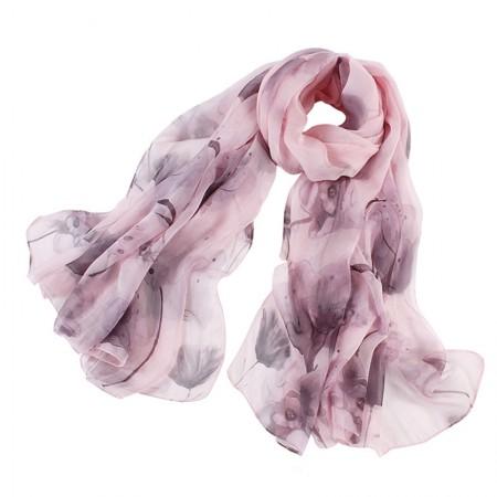 丁摩 桑蚕丝沙滩巾印花真丝披肩围巾W012·三月烟雨