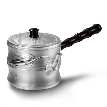 老冯记足银君子壶茶具带木柄壶
