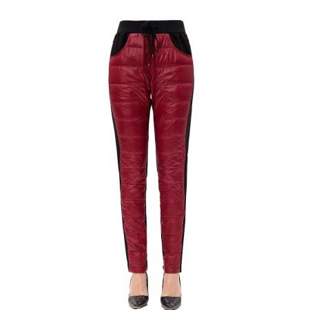 迪欧达 女士羽绒裤·酒红