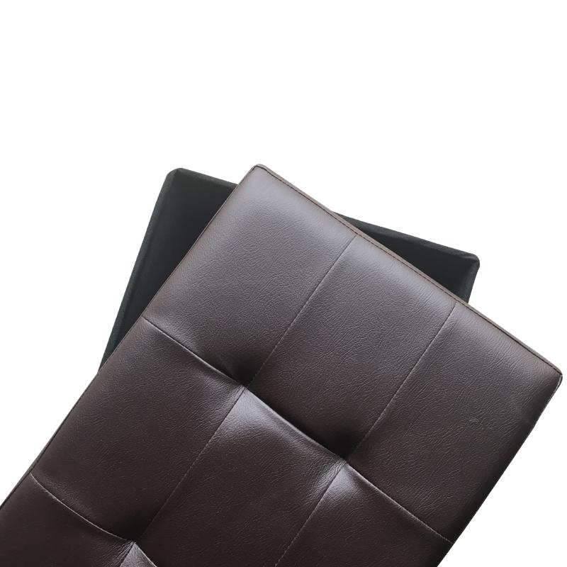 吉优百 长方形可折叠收纳箱沙发凳·110L·酒红色