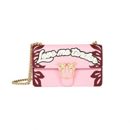 意大利直邮 Pinko love me tender系列燕子包 粉色·粉色
