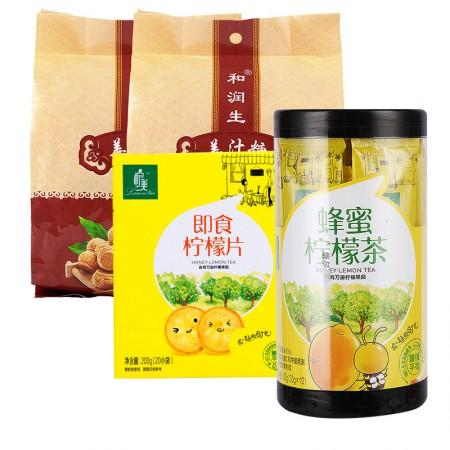 和润生姜汁糖+柠美组合装·1500g·姜汁糖+蜂蜜柠檬茶+柠檬片