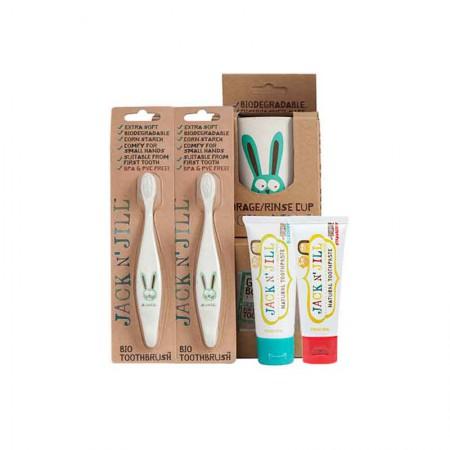 澳洲直邮 Jack N Jill儿童有机牙膏牙刷·5件组