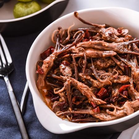 四川特产自贡鲜辣过瘾小食组·牛里脊120g香辣味 牛里脊120g麻辣味 兔肉20