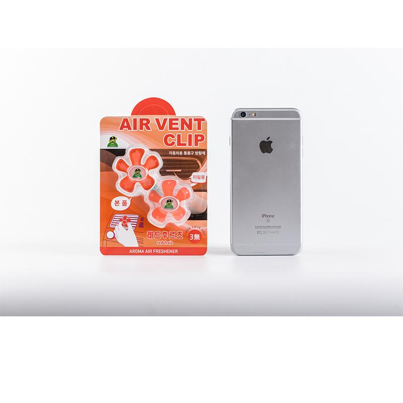 [巴洛奇]Sandokkaebi 韩国进口车载去除异味香薰夹·2件·红色