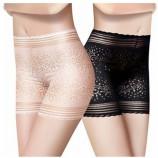Wise Heburn 时尚蕾丝塑身打底安全裤·肤色+白色+黑色
