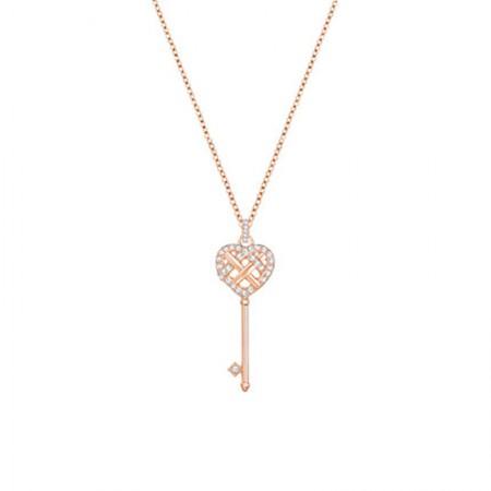 澳洲直邮 施华洛世奇 短款心形钥匙锁骨项链