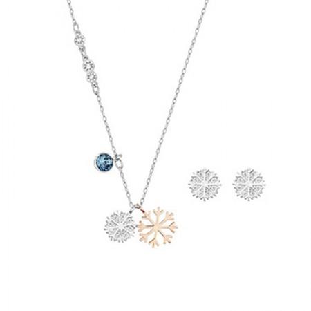 澳洲直邮 施华洛世奇 雪花水晶项链耳环套装