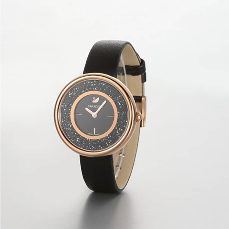 澳洲直邮 施华洛世奇 黑色石英腕表