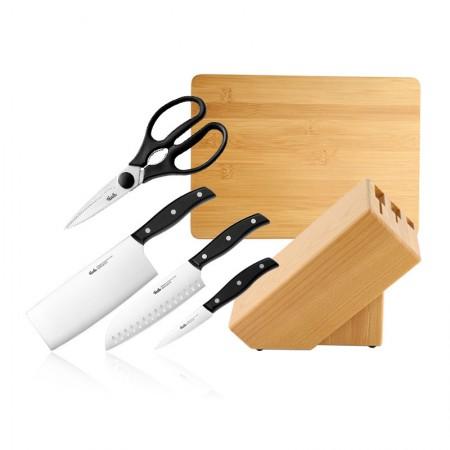 菲仕乐 精致系列厨房刀具厨师刀主厨刀菜刀刀具套组
