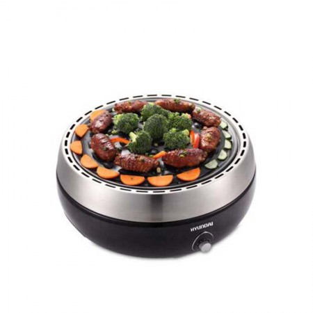 韩国现代 家用无烟烧烤碳烤炉QC-TK2·黑色