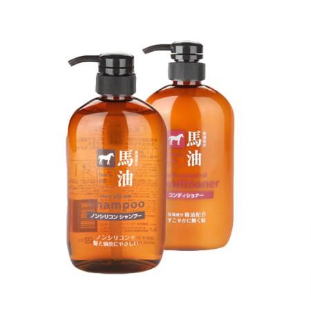 香港直邮 日本熊野油脂 马油洗发护发超值组·2瓶