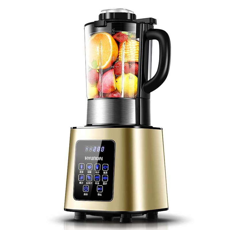 韩国现代 全自动加热破壁料理机QC-LL2432·金色