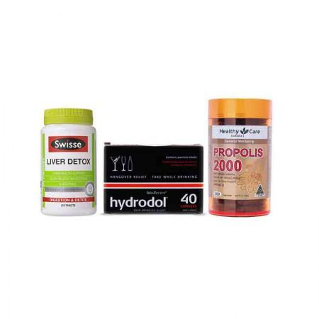 澳洲直邮 肝脏保护套装 Swisse护肝片120粒+Hydrodol解酒片40粒