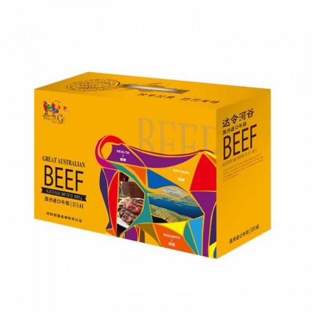 澳洲进口牛排礼盒卡畅想达令河990g