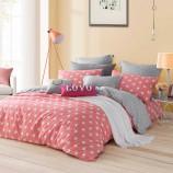 LOVO家纺时尚生活 橘色5尺 纯棉全棉床上用品四件套(罗莱生活出品)