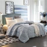 莱薇美式简约灰蓝素色保暖被芯被子加厚冬被(总重6斤)200*230cm·灰蓝