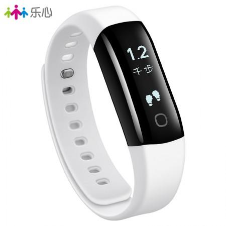 乐心智能手环测心率防水计步器安卓苹果男女蓝牙运动手表mambo2代·白色