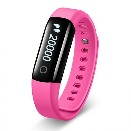 乐心智能手环测心率防水计步器安卓苹果男女蓝牙运动手表mambo2代·粉色
