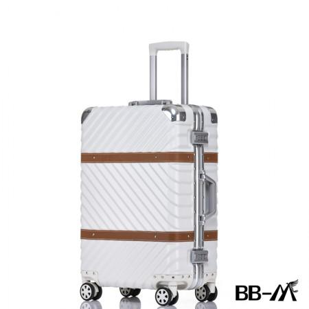 BBM商务行李铝框箱男登机箱女密码箱拉杆旅行箱万向轮皮箱韩版硬箱29寸·白色