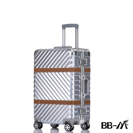 BBM商务行李铝框箱男登机箱女密码箱拉杆旅行箱万向轮皮箱韩版硬箱29寸·银色