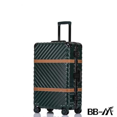 BBM商务行李铝框箱男登机箱女密码箱拉杆旅行箱万向轮皮箱韩版硬箱29寸·绿色