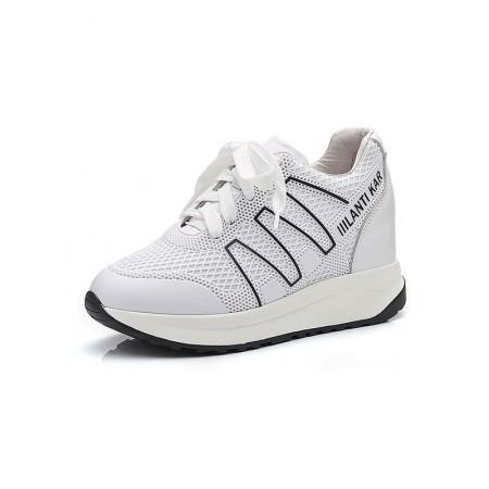 Garthphil 休闲运动内增高舒适小白鞋女·白色