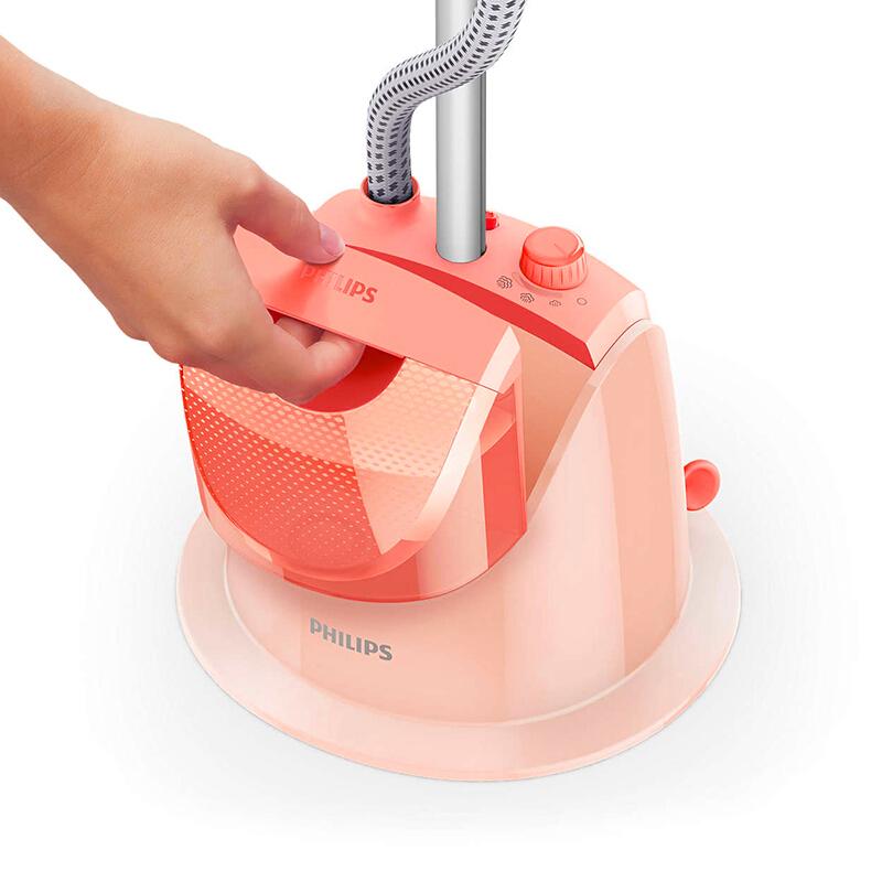 飞利浦(PHILIPS)挂烫机家用蒸汽熨衣机 大功率熨烫机挂式手持挂烫机 GC507 单杆 西瓜红·西瓜红