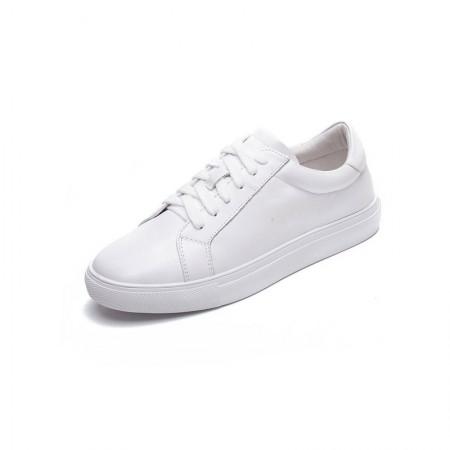 Garthphil 牛皮学生运动平底休闲鞋板鞋·白色