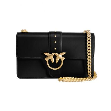 意大利直邮 Pinko 时尚浪漫女款系列燕子包 黑色经典款·黑色