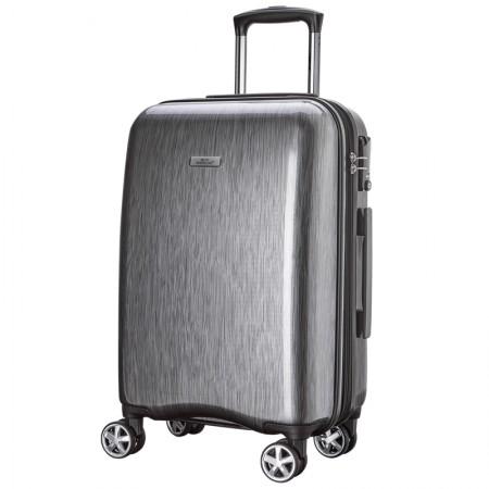 WEPLUS唯加拉丝商务万向轮拉杆箱行李密码登机箱20寸·银色拉丝