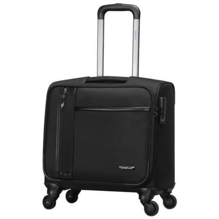 WEPLUS唯加高端商务旅行箱行李箱17英寸拉杆箱机长箱软箱皮箱子·黑色