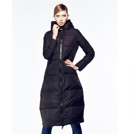 BC加长款修身保暖羽绒服·黑色