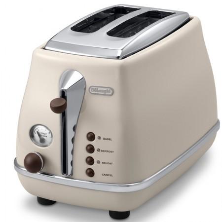 意大利德龙(Delonghi) CTO2003(奶油白)多士炉 面包机 吐司机