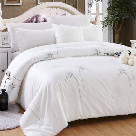 常久 全棉印花蚕丝被冬被 200*230cm4斤 纯美·白色