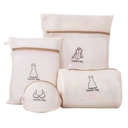 宝优妮加厚细网洗衣袋DQXYD01-10·米色