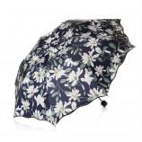 [JM]良品荷叶边百合花防紫外线遮阳伞