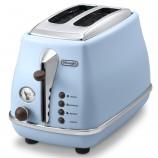 意大利德龙(Delonghi) CTO2003(海洋蓝)多士炉 面包机 吐司机 烤面包机 家用 不锈钢 防尘盖·淡蓝