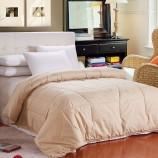 莱薇 全棉加厚驼毛被保暖冬被1+1组合200*230cm·驼色