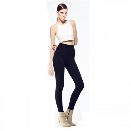 BC弹力修身美腰加绒裤·黑色