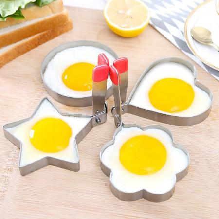 美之扣 加厚304不锈钢煎鸡蛋模型·四个装